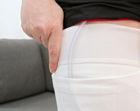 Ayuda para la incontinencia. Modelo muslo